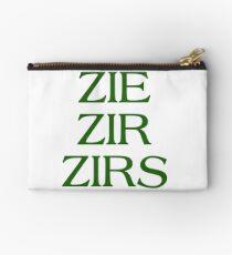 Pronouns - ZIE / ZIR / ZIRS - LGBTQ Trans pronouns tees Studio Pouch