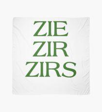 Pronouns - ZIE / ZIR / ZIRS - LGBTQ Trans pronouns tees Scarf