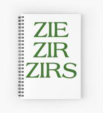 Pronouns - ZIE / ZIR / ZIRS - LGBTQ Trans pronouns tees Spiral Notebook