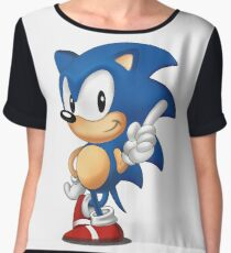 sonic the hedgehog Women's Chiffon Top