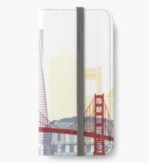 San Francisco skyline poster iPhone Wallet/Case/Skin