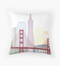 San Francisco skyline poster Throw Pillow