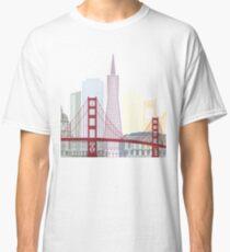 San Francisco skyline poster Classic T-Shirt