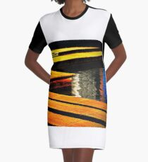 Colour Abstract Graphic T-Shirt Dress
