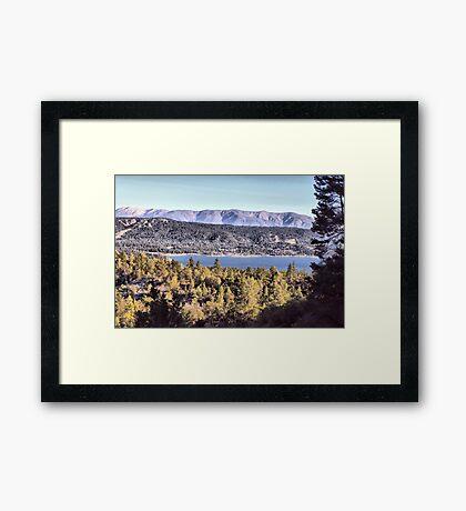 Cougar's View of Big Bear Lake Framed Print