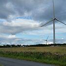 Wind Turbines in a Field by Richard Winskill