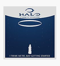 Minimalist Halo Combat Evolved Poster Photographic Print