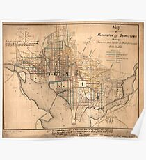Vintage Map of Washington D.C. (1879) Poster