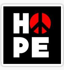 Hope Peace Sticker
