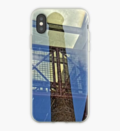 Glass Reflection - Rhondda Heritage Park, Wales iPhone Case