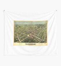 Vintage Pictorial Map of Westfield NJ (1875) Wall Tapestry