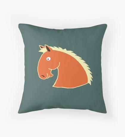 Chestnut Horse with Flaxen Mane Throw Pillow