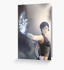 Infamous 2 Kuo painting Greeting Card