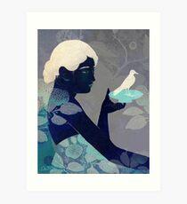 Bird on a plate Art Print