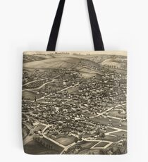 Vintage Pictorial Map of White Plains NY (1887) Tote Bag