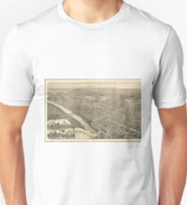 Vintage Pictorial Map of Wilkes-Barre PA (1889) Unisex T-Shirt