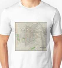 Vintage Map of Winnipeg Canada (1917) Unisex T-Shirt