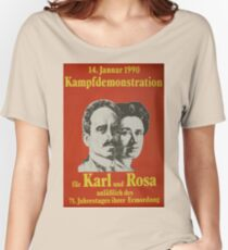 Karl Liebknecht and Rosa Luxemburg, Communist Propaganda Poster  Women's Relaxed Fit T-Shirt