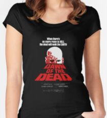 romero cult movie dawn of the  dead Women's Fitted Scoop T-Shirt