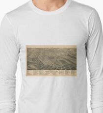 Vintage Pictorial Map of Winston-Salem NC (1891) Long Sleeve T-Shirt