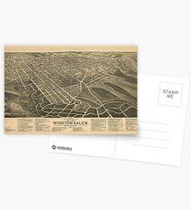Old Salem Nc Map.Old Salem Postcards Redbubble