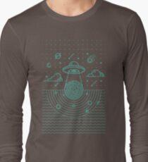 Ufo in dark night.  T-Shirt