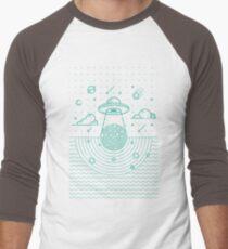 Ufo in dark night.  Baseball ¾ Sleeve T-Shirt