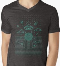 Ufo in dark night.  T-Shirt