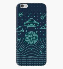 Ufo in dark night.  iPhone Case