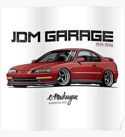 Honda Prelude IV (red) Poster