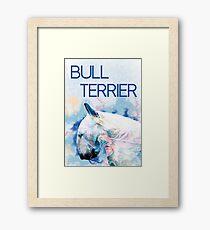 Keep calm, hug a bull terrier  Framed Print