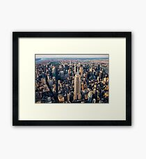 Aerial Empire State Building and Central Park Framed Print