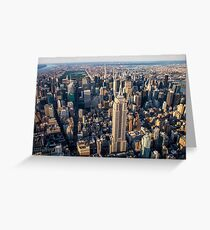Aerial Empire State Building and Central Park Greeting Card