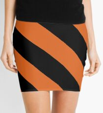 Princeton New Jersey Black & Orange Team Color Stripes Mini Skirt