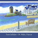 """Tour Solidor"" - St. Malo, France (poster) by RiverbyNight"