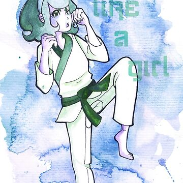 Women in Martial Arts Blue by silk-sutures