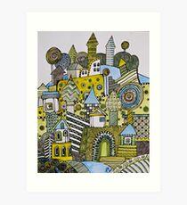 Emerald village Art Print