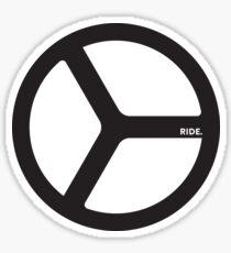 RIDE. Sticker