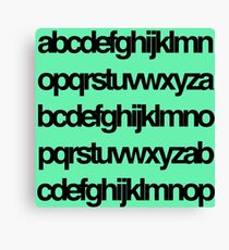 Alphabet Pattern Canvas Print
