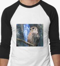 A Florida Barred Owl Men's Baseball ¾ T-Shirt