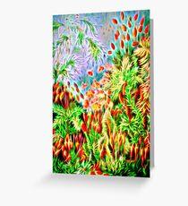 Plants & Animals, magic mushrooms, fungi, bryophyta, moss, psychedelic, art, illustration, haeckel,  Greeting Card