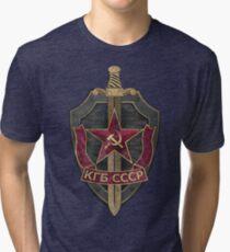 KGB Vintage Emblem 01 Tri-blend T-Shirt