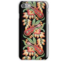 Ukulele Pattern (Black) iPhone Case/Skin