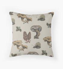 Mushrooms Pattern Throw Pillow