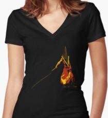 Pyramid Head Women's Fitted V-Neck T-Shirt