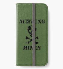 "Vinilo o funda para iPhone Grungy ""Achtung Minen"" Advertencia"
