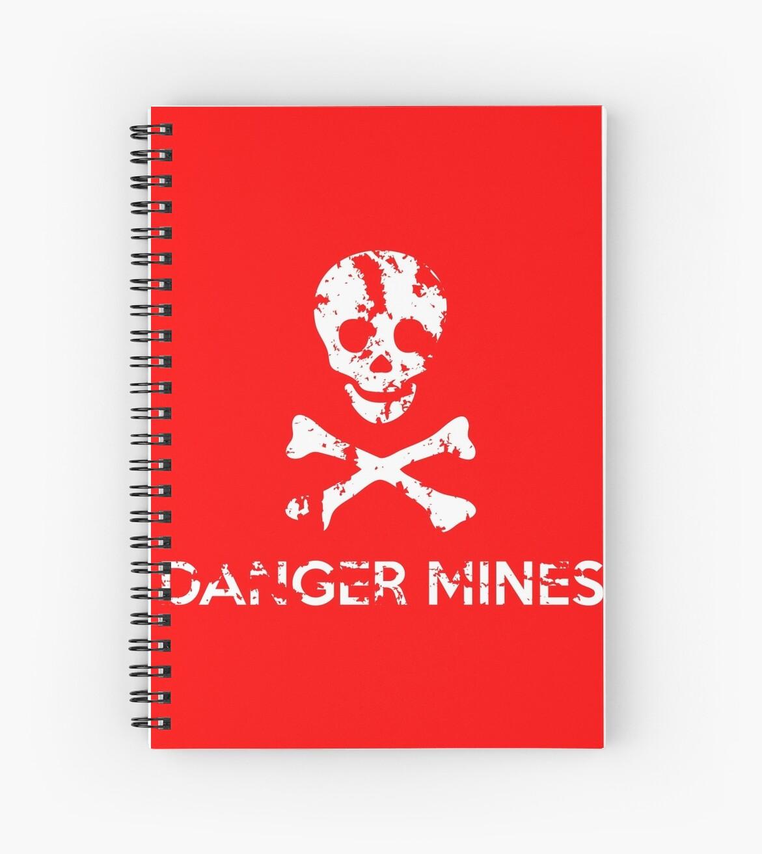 "Grungy ""Danger Mines"" Warning by stíobhart matulevicz"