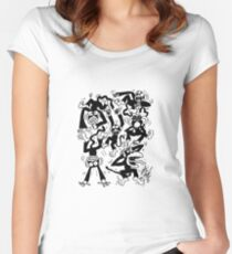 Crazy Monkeys Fitted Scoop T-Shirt
