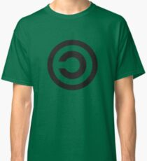 Copyleft Symbol - Support the Free Web! Classic T-Shirt