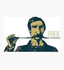 Vintage Hipster Long Mustache Pride  Photographic Print